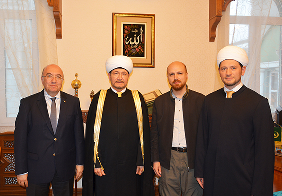 Bilal Erdogan visits Moscow Cathedral Mosque