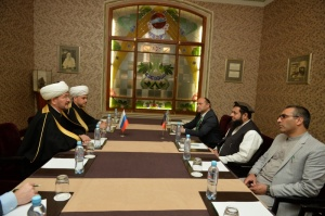 Mufti Sheikh Ravil Gaynutdin meets Minister of Hajj and Awqaf of Afghanistan
