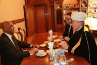 Meeting between mufti sheikh Ravil Gaynutdin and the extraordinary and plenipotentiary ambassador of the Republic of Sudan