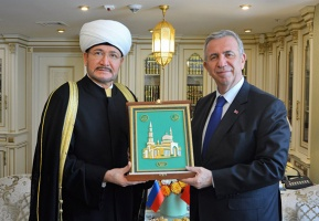 Meeting with mayor of Ankara held in Moscow Cathedral Mosque
