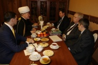 Mufti sheikh Ravil Gaynutdin met with the extraordinary and plenipotentiary ambassador of the United States in Russia John F. Tefft