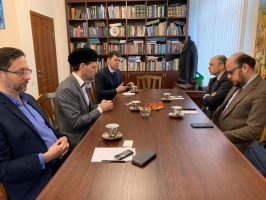 Dmir Mukhetdinov meets new Religious Affairs Counsellor of the Turkish Embassy